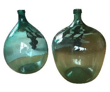 Vintage Glass Wine Jugs