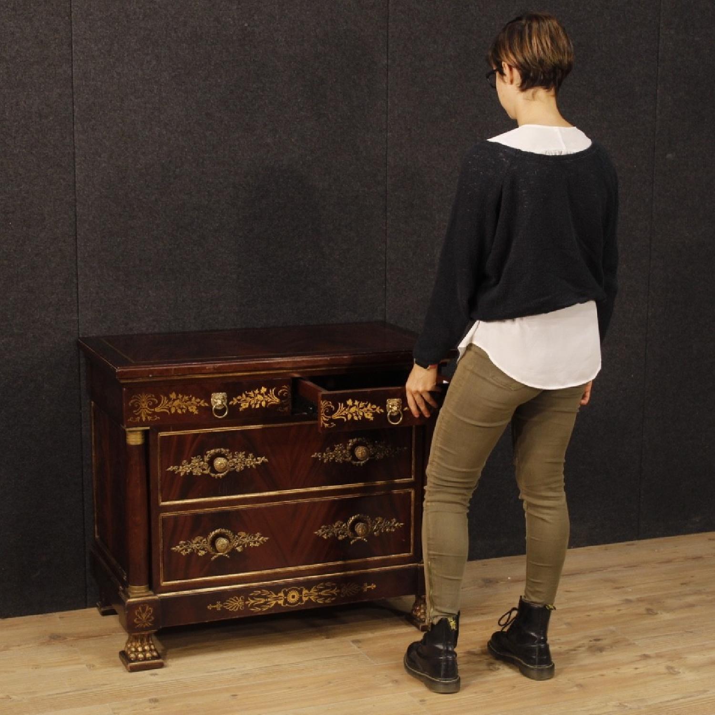 20th Century 1970 Mahogany Wood French Empire Style Dresser