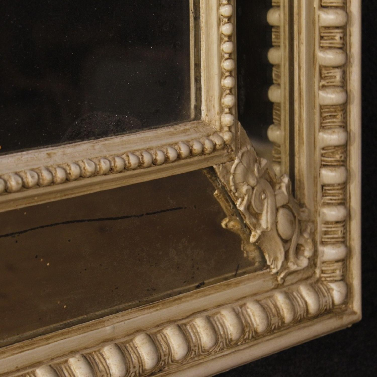 20th Century 1930 Painted Wood & Plaster French Mirror