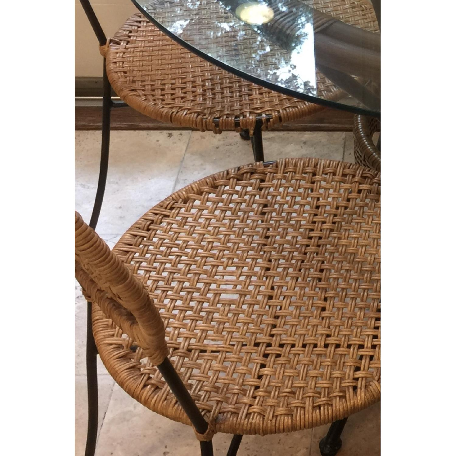 Pier 1 Round Glass Dining Table w/ 4 Chairs - image-3