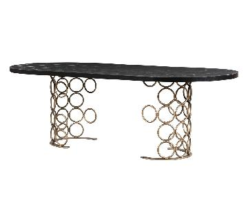 TOV Furniture Valentina Brass Dining Table