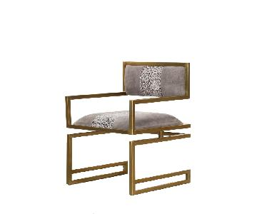 Designe Gallerie Snake Skin Embossed Leather Chairs