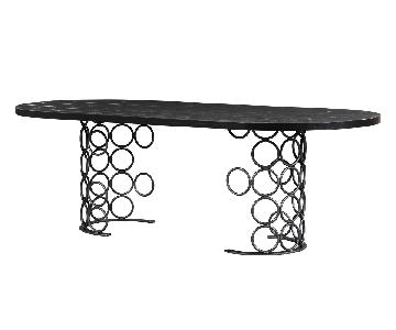 TOV Furniture Valentina Black Dining Table