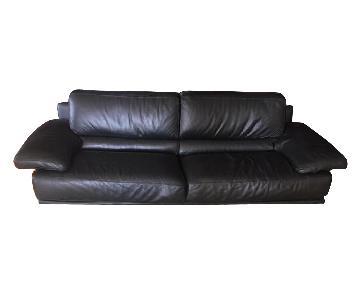 Bloomingdale's Chateau D'ax Italian Leather Sofa