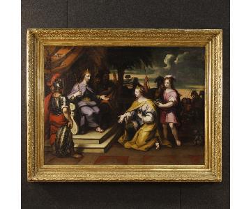 18th Century Oil on Canvas Religious Italian Painting