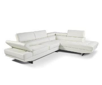 Bob's 2-Piece Sectional Sofa+ Swivel Chair & Storage Ottoman