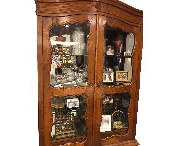 Antique Wood Curio Cabinet
