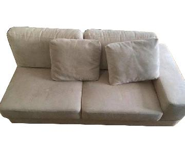Crate & Barrel L-Shaped Sectional Sofa w/ Chaise