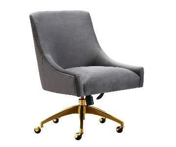 TOV Furniture Beatrix Grey Office Swivel Chair
