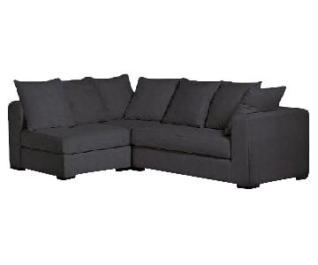 West Elm Walton 3-Piece Sectional Sofa in Performance Shadow