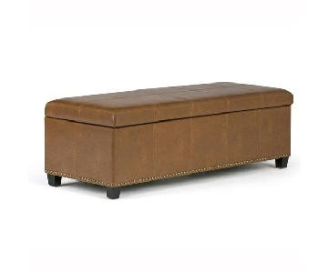 Simpli Home Storage Bench/Ottoman/Coffee Table