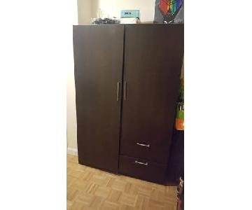 Dark Brown Wooden Wardrobe