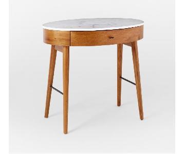 West Elm Penelope Marble Mini Desk