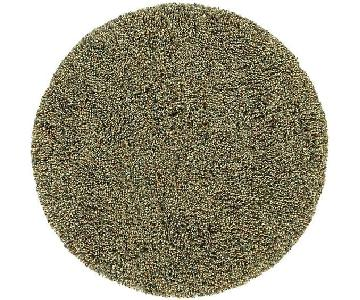Crate & Barrel Round Shag Multi-Color Rug