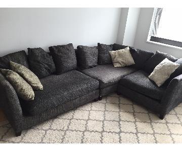 Flexform Italian Grey 3-Piece Sectional Sofa