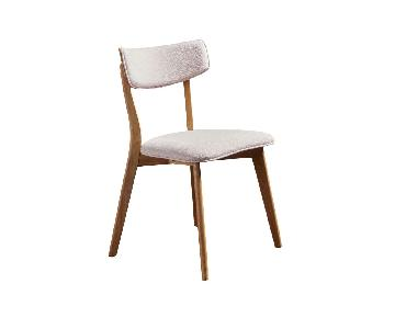 Mid Century Modern Cream Dining Chairs