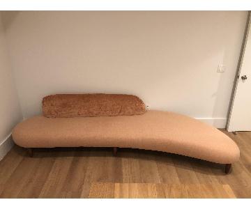 Kardiel Mid-Century Modern Pink Sofa