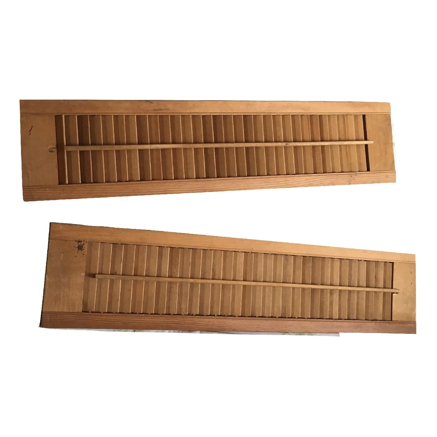 Vintage Small Wood Window Shutters