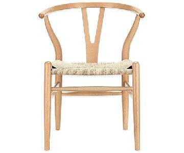 Modway Amish Wooden Wishbone Inspired Armchairs
