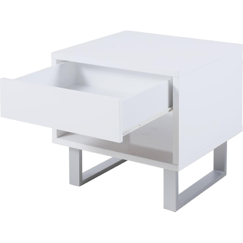 Walnut Finish Writing Desk w/ Reversible Storage Unit