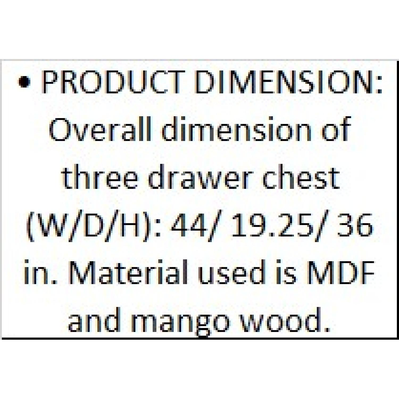 DesigneGallerie Harbin 3 Drawer Chests