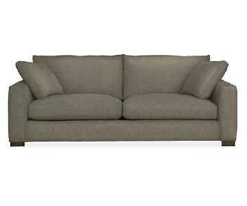 Room & Board Metro Sofa + Chair in Tatum Salt