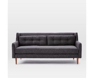 West Elm Crosby Mid-Century Sofa in Tweed Asphalt