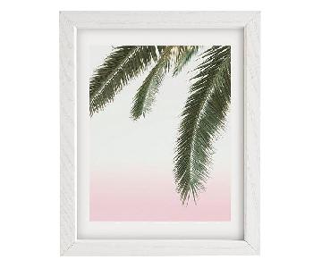 Urban Outfitters Wall Art in White Wood Frame