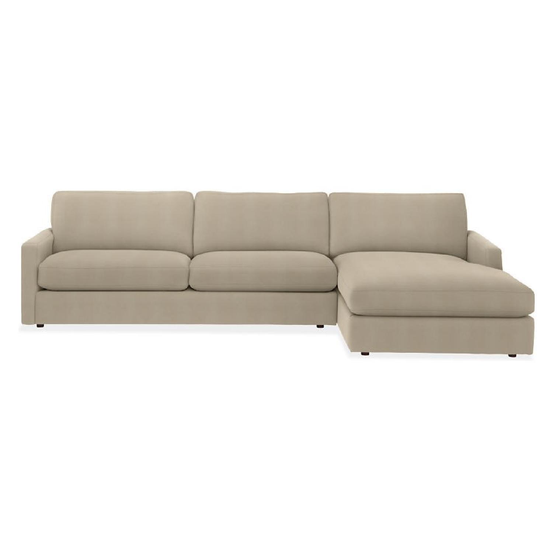 Room U0026 Board Easton Chaise Sectional Sofa ...
