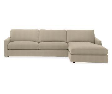 Room & Board Easton Chaise Sectional Sofa