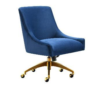 TOV Furniture Beatrix Navy Office Swivel Chair