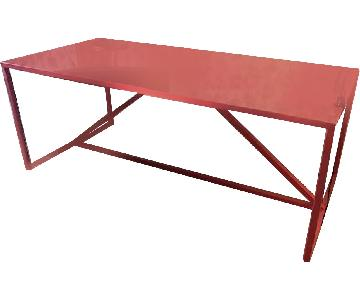 Design Within Reach Red Table/Desk