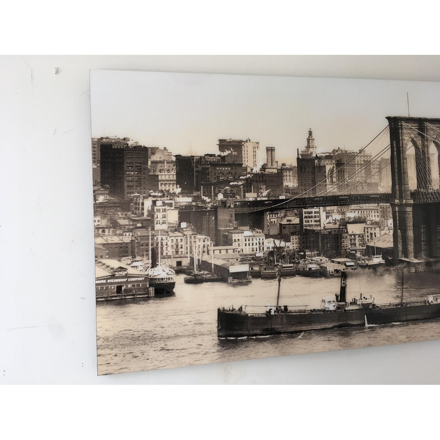Large Art of Early 1900's NYC Harbor