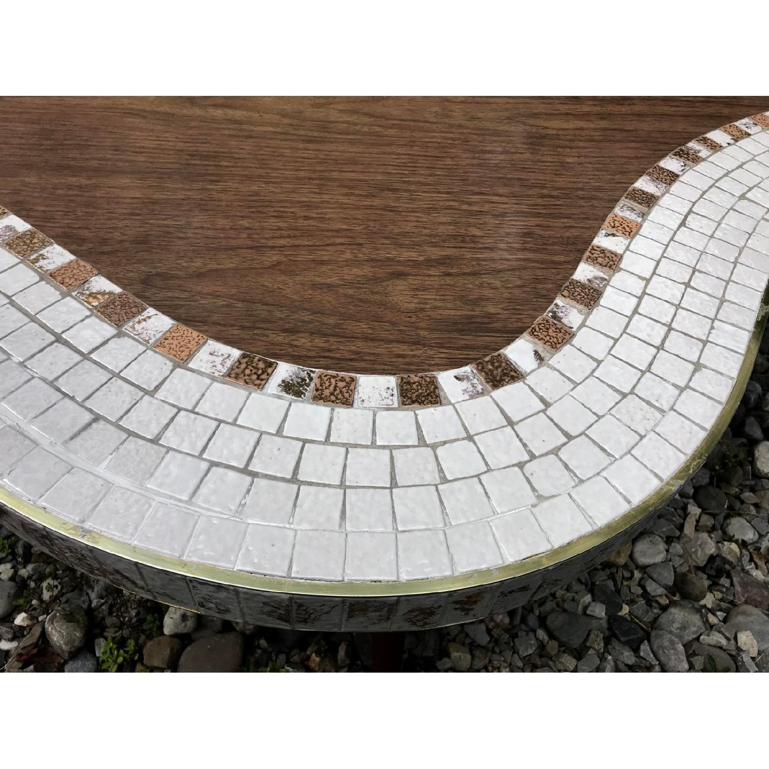 Biomorphic Kidney Style Mosaic Tile Mid Century Coffee Table