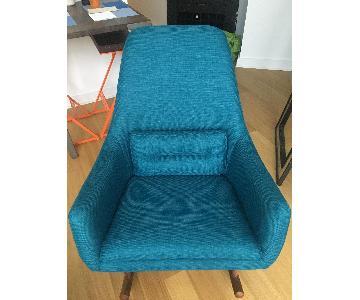 CB2 Quantam Peacock Rocking Chair