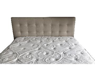 August Grove Eton Upholstered Panel Headboard