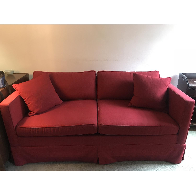 Carlyle Evan Red Sleeper Sofa ...