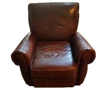 Pottery Barn Leather Recliner