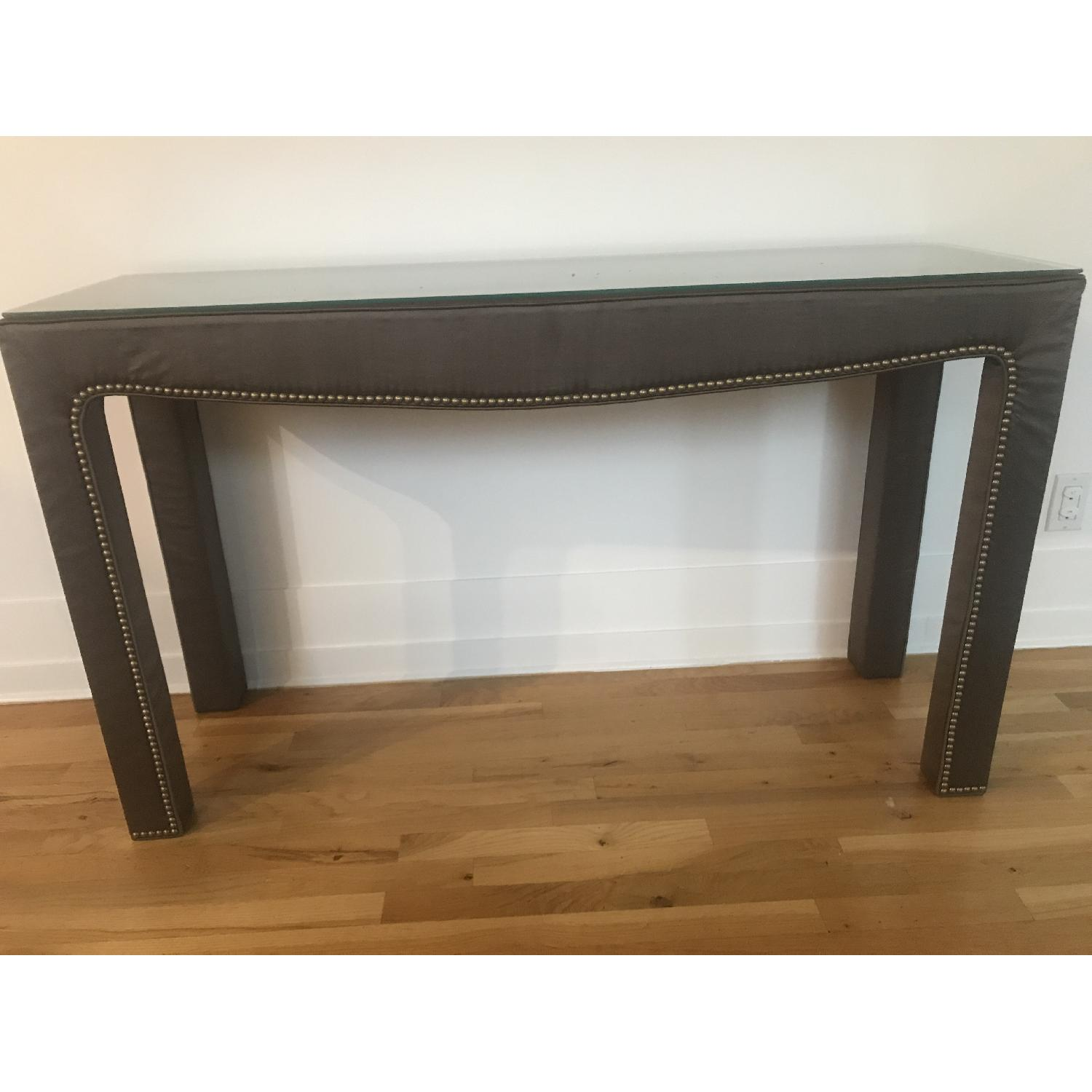 Mitchell Gold Bob Williams Studded Side Console Table AptDeco - Studded coffee table