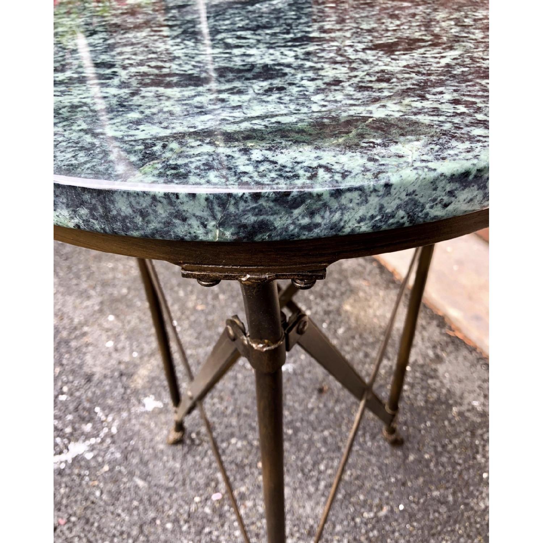 Jansen Style Stone Top Metal Gueridon Table