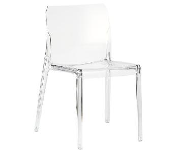 CB2 Bolla Acrylic Dining Chairs