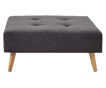 West Elm Retro Tillary Ottoman & Back Cushion