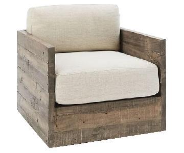 West Elm Emmerson Reclaimed Wood Swivel Chair