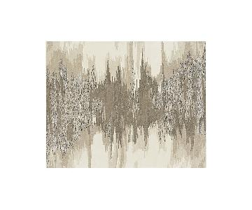 Crate & Barrel Birch Neutral Wool-Blend Abstract Rug