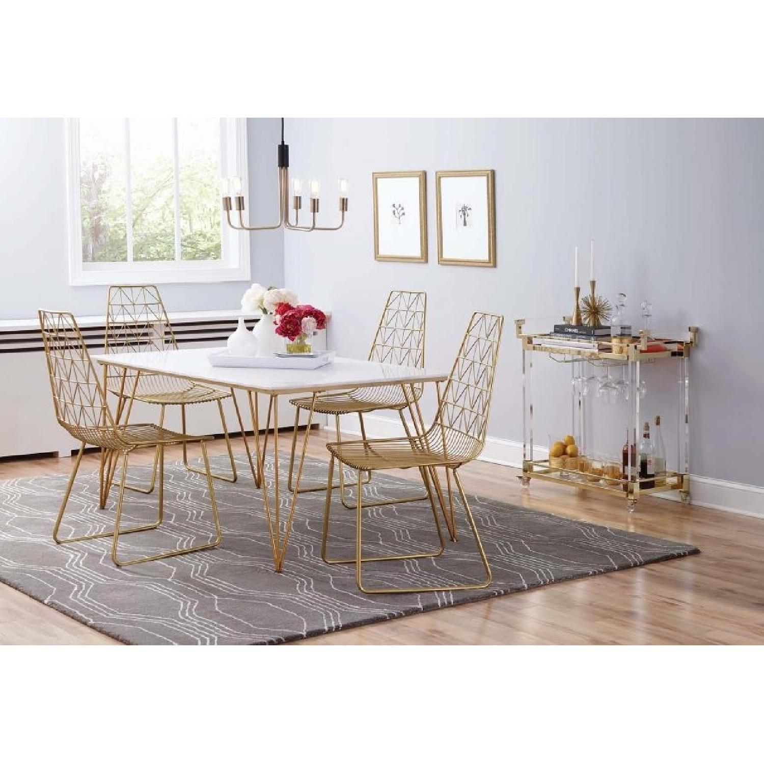 Italian Style Contemporary Metal Chair in Gold Finish