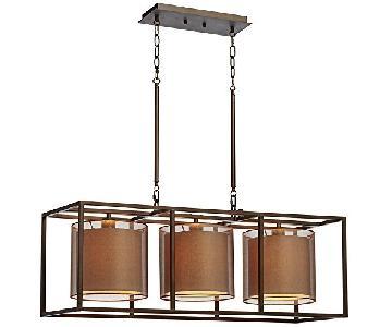Lamps Plus Oil-Rubbed Bronze Metal Cube Island Pendant