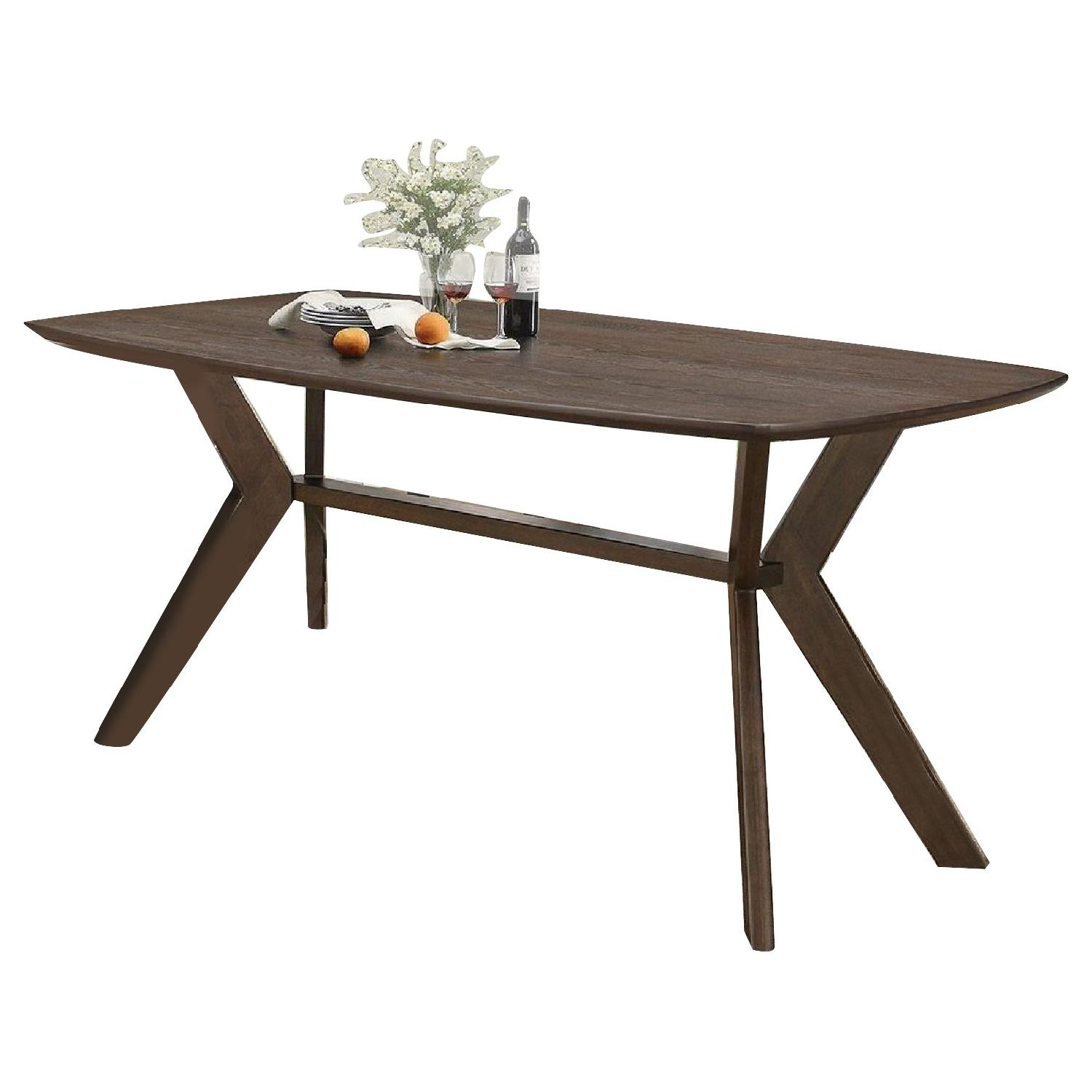 Coaster Retro Dining Table in Warm Brown Finish