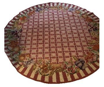 Maroon Circular Area Rug