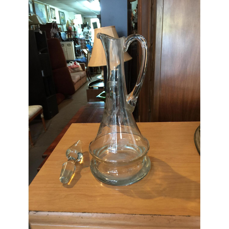 Vintage Krosno Clear Glass Decanter/Pitcher