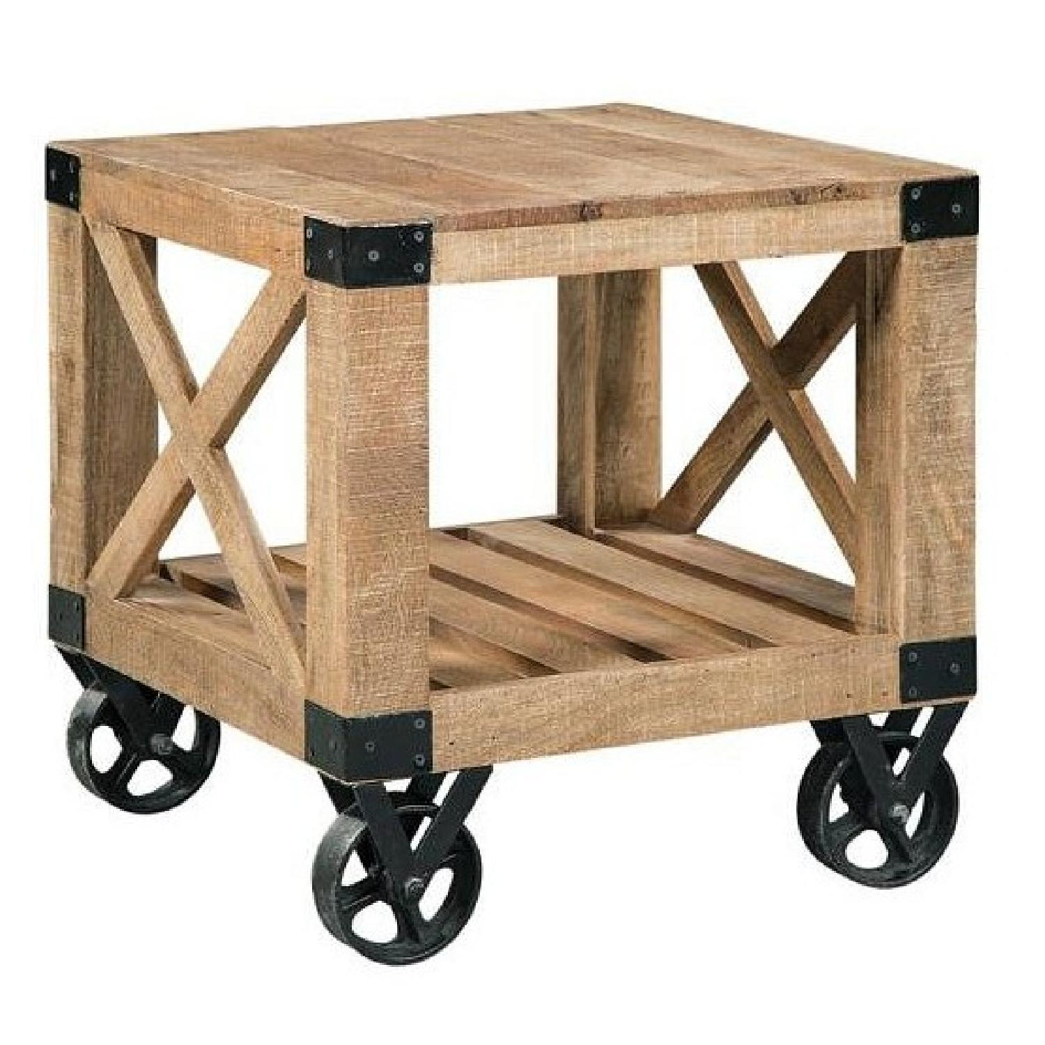 Industrial Workshop Style Side Table
